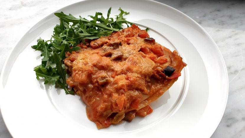 Lasagne met Thaise bechamelsaus